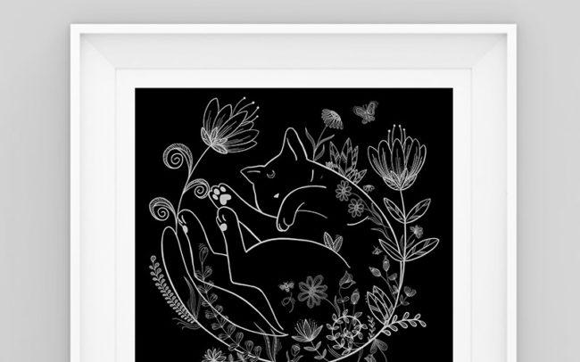 Illustration black cat