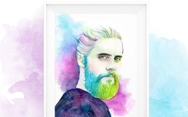 Jared Leto Portrait Illustration