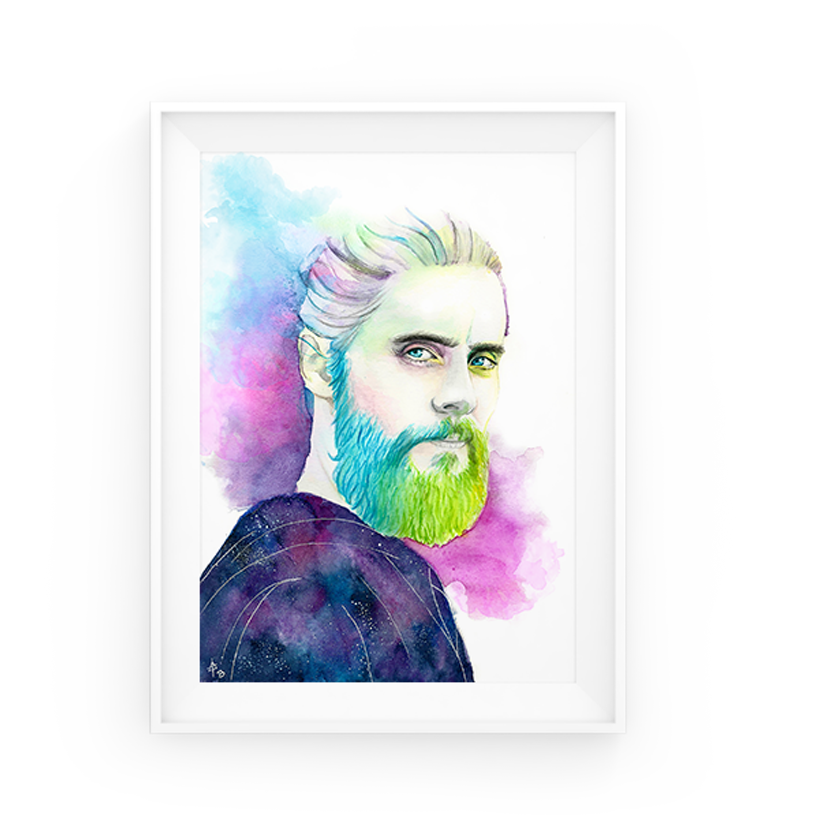 Illustration Watercolor Portrait
